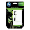 HP No 27 CC621AA Black Ink Cartridge TWIN PACK