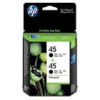 HP No 45 CC625AA Black Ink TWIN PACK