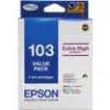 Epson T103 103 Value Pack High Yield Ink Cartridge