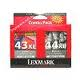 Lexmark #43XL #44XL 18Y0143A 18Y0144A Ink Combo Pack