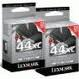 Lexmark #44XL Twin Pack Black High Yield Ink Cartridge