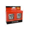 Lexmark #82 18L0032 Twin Pack Cartridge