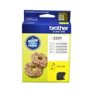 Brother LC-233Y Genuine Yellow Ink Cartridge