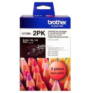Brother LC-73 Black Ink Cartridge TWIN PACK