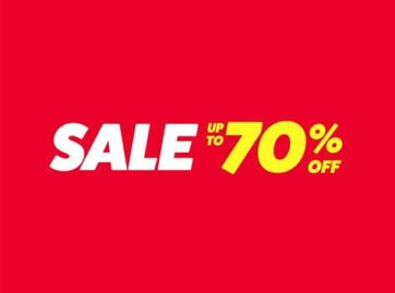 enjoy up to 70% off